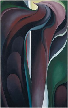 Georgia O'Keeffe, Jack-in-Pulpit Abstraction—No. 5, 1930. Oil on canvas, 48 × 30 in. (121.9 × 76.2 cm). National Gallery of Art, Washington, D.C. Alfred Stieglitz Collection; bequest of Georgia O'Keeffe  1987.58.4. Image courtesy of the Board of Trustees, National Gallery of Art