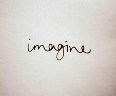 Imagine in John lennon's handwriting