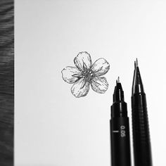Image result for black and white forget me not tattoo