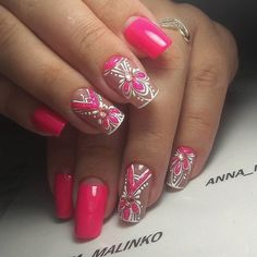 Beautiful patterns on nails, Evening dress nails, Evening nails, Luxurious…