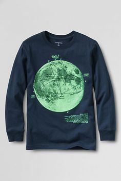 Boys' Long Sleeve Graphic T-shirt from Lands' End