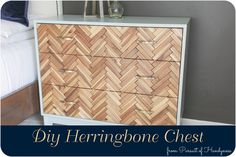 Diy Herringbone Chest Feature Image