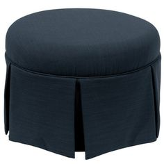 Shop for Skyline Furniture Skyline Linen Navy Round Skirted Ottoman. Get free shipping at Overstock.com - Your Online Furniture Outlet Store! Get 5% in rewards with Club O!