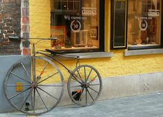 Antique shops & bikes