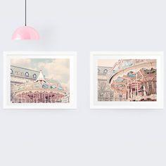Paris Carousel Photography Print set French nursery by RubyandB