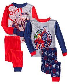 Marvel Little   Big Boys 4-Pc. Cotton Avengers Pajama Set Kids - Pajamas -  Macy s c91b23a58