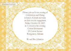 Yellow Lace Custom Invitation by SimplySouthernbyD on Etsy, $8.90