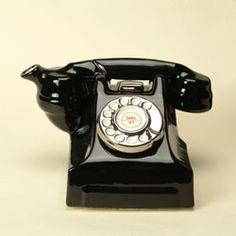Telefoon Zwart,  One cup teapot