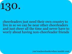 cheerleading :)