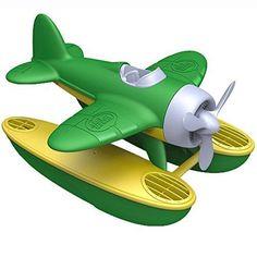 Green Toys Buoyant Seaplane Kid Children Funny Play Float Bathtub Pool Green New #GreenToys