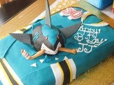 San Jose Sharks cake #SanJoseSharksFood #SanJoseSharks #SharksTerritory want!!