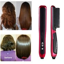 This Hair Straightening Styler is a hair styling tool that will both comb and straighten your hair, along with curling the ends, if you desire that style.  【HEALTHY SILKY HAIR】 Straightening brush gives you a lively and bouncy effect, not completely press down your hair, rather than flat burnt look and leaves your hair easy to manage. Just brush your hair once and dull hair into gorgeous shiny and sleek looking.