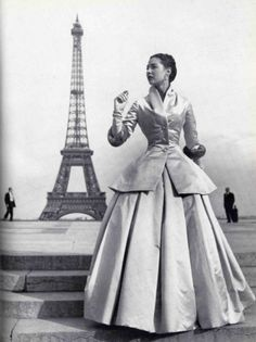 """Christian Dior launched Corolle  (the French word for the botanical term corolla or circlet of flower petals),  his first collection on 12th February 1947 with voluptuous, soft silhouettes. In his words, """"I have designed flower women""""."""