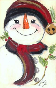 Most recent Free Snowman painting on sled Strategies It truly is not easy to avoid contributing some sort of snowman painting undertaking into an art and Christmas Rock, Christmas Canvas, Christmas Paintings, Christmas Snowman, Christmas Projects, Winter Christmas, Holiday Crafts, Christmas Ornaments, Snowmen Paintings