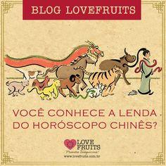 O ano-novo chinês está chegando, e para aproveitá-lo ao máximo vamos contar a lenda dos doze animais, história tradicional da cultura chinesa.  Acesse: http://blog.lovefruits.com.br/post/voce-conhece-a-lenda-do-horoscopo-chines  Imagem: deviantart