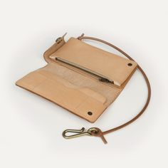 Bleu de Chauffe I Wallet in Natural tanned leather I Corto wallet. Made in France