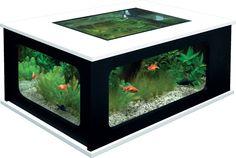 Aquarium+table++-+blanc/noir