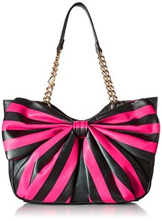 Betsey Johnson BJ49610 Top Handle Bag, Fuchsia Stripe, One Size Betsey Johnson http://www.amazon.com/dp/B00YZ0TJV2/ref=cm_sw_r_pi_dp_rwAgwb0X3GGD4