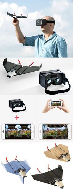 PowerUp FPV turns your paper airplane into a smartphone controlled drone and lets you experience flight as if you are sitting in the airplane's cockpit.
