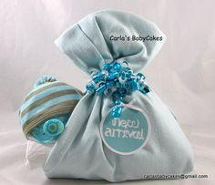Stork bundle baby | Sleeping baby diaper cake | Stork bundle | Diaper baby | Baby shower gift | Neutral baby gift | Neutral diaper cake by MsCarlasBabyCakes on Etsy
