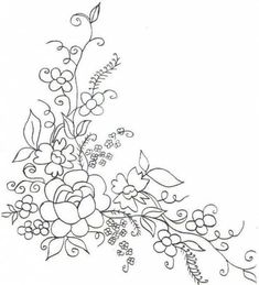 Embroidery Patterns Easy outside Embroidery Designs Dogs unlike Embroidery Thread Easter Eggs except Embroidery Boutique Embroidery Flowers Pattern, Paper Embroidery, Vintage Embroidery, Flower Patterns, Embroidery Boutique, Embroidery Transfers, Hand Embroidery Stitches, Hand Embroidery Designs, Machine Embroidery