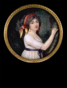 Charles Chatillon: Unknown Lady in Woodland Scenery, ca 1795
