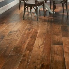 Albero Valley Hudson Bay Random Width Engineered Walnut Hardwood Flooring in Alberta
