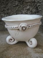 Handmade pottery sugar bowl by Corlia de Wet, available at The Vine online gift store. Visit www.namibiaonlinegifts.com