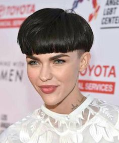 What do you think of this bowl cut for Ruby Rose?