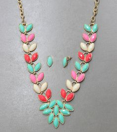 Adorn by LuLu- Multicolor Petal Floral Necklace