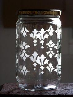 #stencil - Vaso con coperchio decorato - @foodbookscrafts