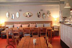 I love the rustic decor in a popular bakery/restaurant in Johannesburg