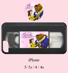 Hipster iphone case,beauty and the beast iphone case,cassette iphone case,vhs case,vhs case,disney iphone case,iphone case,iphone 5s,90s,5s on Etsy, $18.00 @Christina Childress Allen