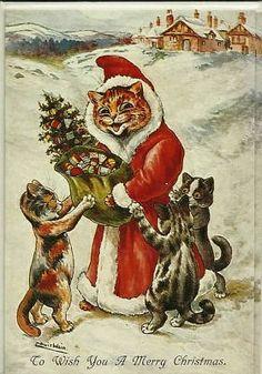 Vintage Cat Christmas