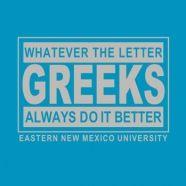 Cute Greek Week or Panhellenic Recruitment Shirt idea! Coordinate colors to match sorority colors.