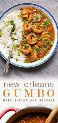 French Delicacies Essentials - Some Uncomplicated Strategies For Newbies New Orleans Gumbo With Shrimp And Sausage Snack Cajun Gumbo, Shrimp And Sausage Gumbo, Shrimp Gumbo, Seafood Gumbo, Sausage Recipes, Soup Recipes, Easy Recipes, Dinner Recipes