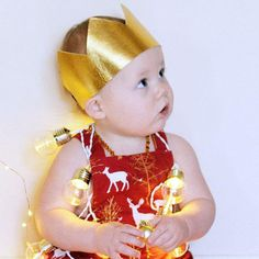 Gold crown perfect for chrisymas crown as party of a boys christmad outfit or for s chrisymas photoshoot https://www.etsy.com/au/listing/560342519/gold-crown-christmas-crown-christmas