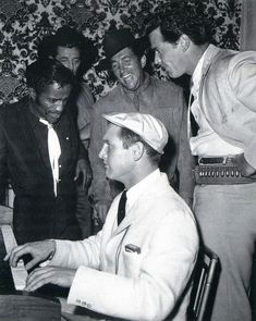 Paul NEWMAN [Filmsite, OW] X Maybe the coolest collection of people ever. Paul Newman, Sammy Davis Jr, Dean Martin, Robert Mitchum and James Garner