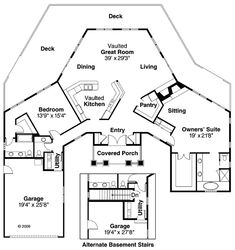 Plan 72079DA: Panoramic Views | House plans, Bedrooms and Nice