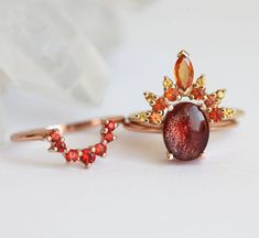 Engagement Sets, Band Engagement Ring, Rings Cool, Unique Rings, Pretty Rings, Red Sapphire, Fire Ring, Original Design, Bohemian Rings