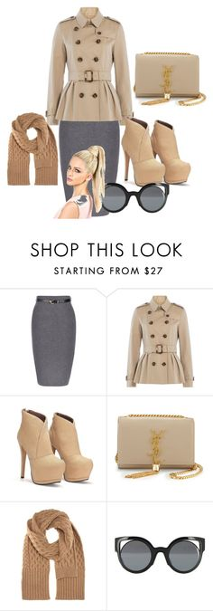 """""""Nude"""" by dzenita-219 on Polyvore featuring Burberry, Yves Saint Laurent, Maison Margiela and Fendi"""