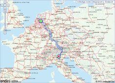 De route plannen Arnhem - Torri del Benaco