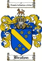 Bruton Coat of Arms / Bruton Family Crest