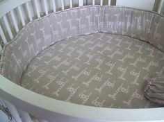 Custom Stokke Crib Sheet .... Made with Client's Fabric -Labor Only