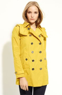 Burberry Brit Hooded Double Breasted Coat