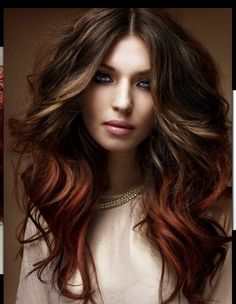 Love this Ombré. Perfect for fall!