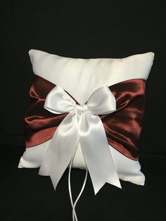 Use coupon code PINITFREESHIP for FREE shipping!  Oxblood Red Wedding Ring Bearer Pillow  (Marsala Red) On ETSY By Jessicasdaydream