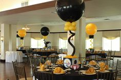 Steelers Themed Bar Mitzvah Steelers Themed Bar Mitzvah with Photo Cube Centerpieces, Custom Table Signs