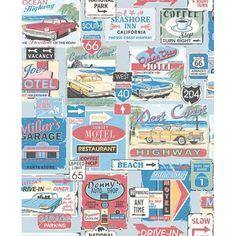PAPEL PINTADO Vintage - Estampado  Este papel pintado para paredes evoca el espíritu de los 50 a través de su diseño. #papelpintado #papelpintadopop #papelpintadovintage #decoración #interiorismo