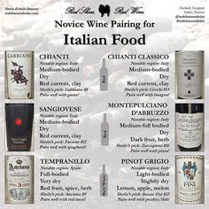 If you're having Italian food for Valentine's Day this weekend, here are my wine…